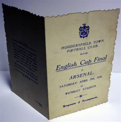 Huddersfield Town v Arsenal Cup Final Programme 1930 ...