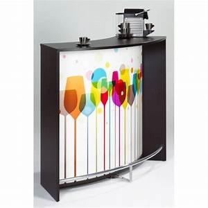 Meuble De Cuisine Noir : meuble bar comptoir de cuisine accueil noir simmob ~ Teatrodelosmanantiales.com Idées de Décoration
