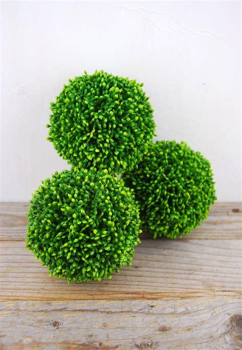 3 Sedum Balls 4in, Faux Succulents