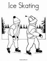 Skating Ice Coloring Pages Skate Template Skater Winter Colouring Skates Figure Print Roller California Twistynoodle Noodle Outline Built Usa Getcoloringpages sketch template