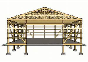 how much does a large pole barn cost large pole barn With common pole barn sizes