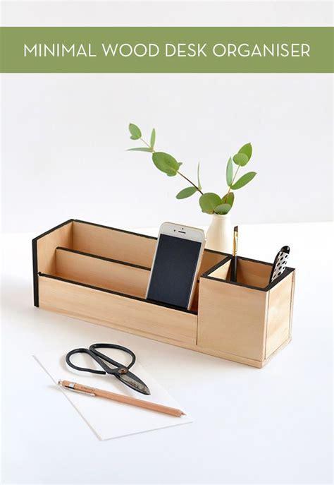 minimal wood desk organizer desk organization