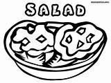 Salad Coloring Drawing Sheet Colorings Getdrawings sketch template