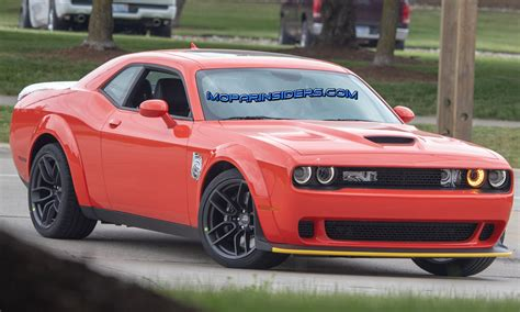 Spied 2019 Dodge Challenger Srt Hellcat Widebody With New
