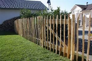 kastanien staketenzaun 100 cm hoch gartenholzcom With französischer balkon mit kramer garten staketenzaun