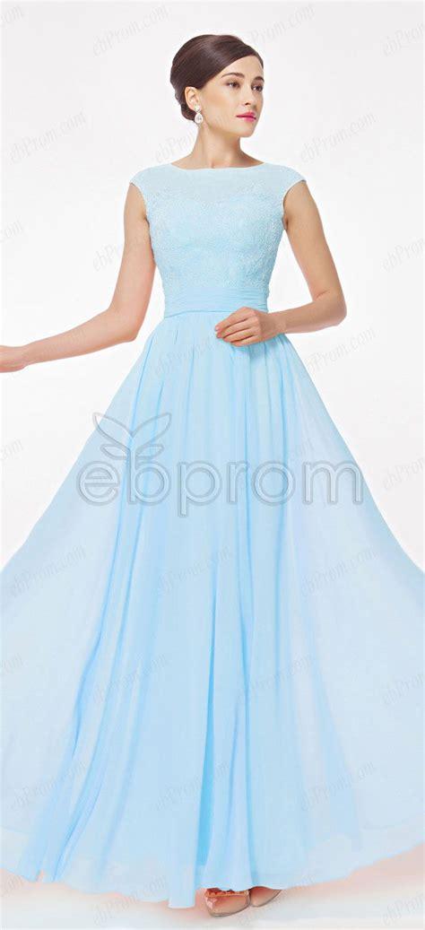 light blue formal dresses light blue modest prom dress with cap sleeves sleeve