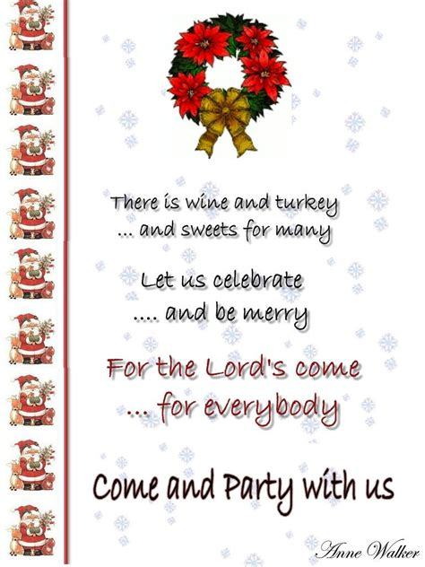 christmas potluck poem invitation template and wording ideas places to visit dinner invitation