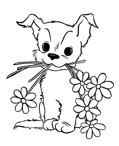 cute puppy coloring pages for kids free printable