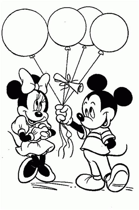 mickey  minnie printable coloring pages coloring home