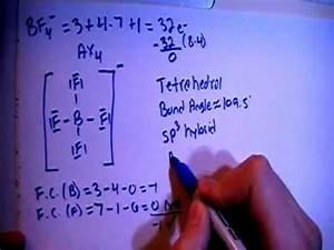 Tetrafluoroborate Ion BF4 - Lewis Dot Structure - YouTube