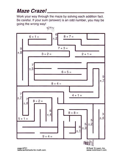 math worksheet ap