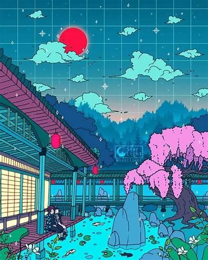 Seerlight Digital Vaporwave Kimetsu Yaiba Deviantart Anime