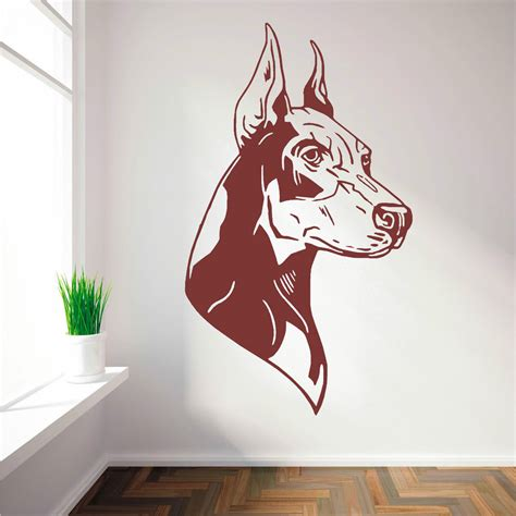 Ebay Wall Decor Uk by Doberman Pinscher Vinyl Wall Sticker Decal Ebay