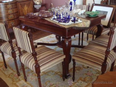 antigua mesa de comedor extensible en madera de comprar