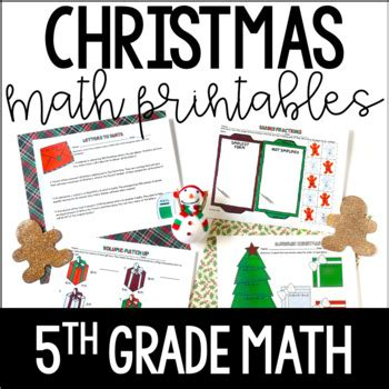 just print christmas themed common core printables 5th
