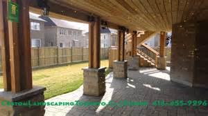 decorative walk out basement design cedar deck pergola and walkout basement