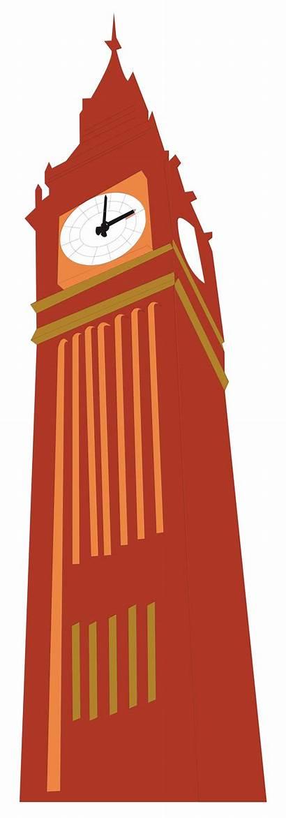 Svg Tower Ben Bell Clipart Landmarks Icons