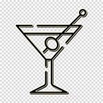 Icon Bar Clipart Martini Tableware Drinkware Line