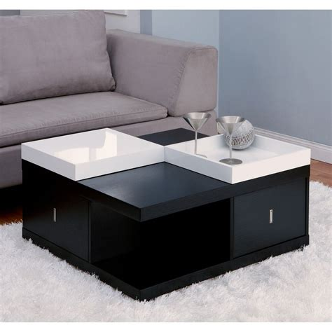 Wooden coffee table with second ledge. Contemporary Coffee Table Wood Modern Storage Drawer Living Room Furniture New | eBay