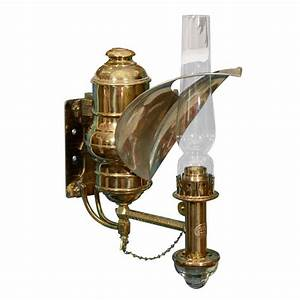 Antique Railroad Car Gas Lamp Sconce By Adam And Westlake