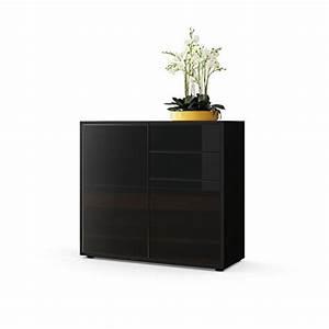 Sideboard Schwarz Matt : kommode sideboard ben korpus in schwarz matt fronten in schwarz hochglanz retro stuhl ~ Orissabook.com Haus und Dekorationen