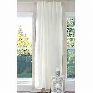 Rideaux En Lin Naturel : rideau en lin blanc et naturel p le pur lin cie ~ Dailycaller-alerts.com Idées de Décoration