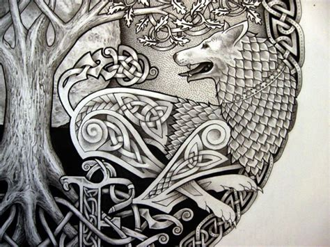 celtic wolf tattoo images  pinterest celtic