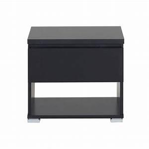 Table De Chevet Pas Cher : table de chevet noir pas cher ~ Teatrodelosmanantiales.com Idées de Décoration