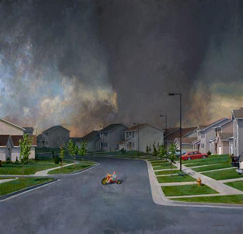 tornadoes paintings  john brosio
