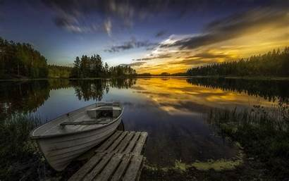 4k Nature Lake Norway Boat Pier Wallpapers