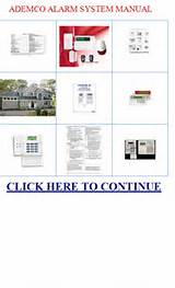 Manual For Ademco Alarm System Images