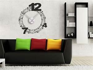 Moderne Wanduhren Design : design wandtattoo uhr wanduhren design wandtattoos wanduhren ~ Markanthonyermac.com Haus und Dekorationen