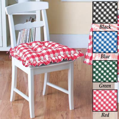 Samantha Checkered Chair Pad from Collections Etc.