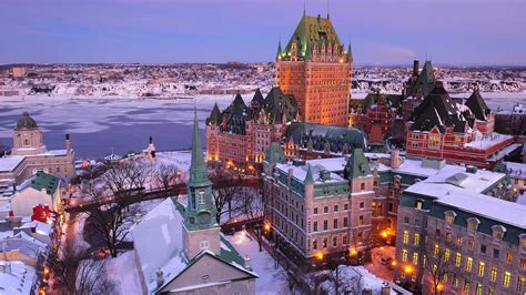 Winter Quebec City 4K Wallpaper