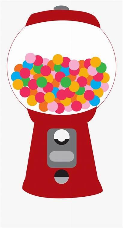 Gum Bubble Gumball Machine Clipart Printable Jar