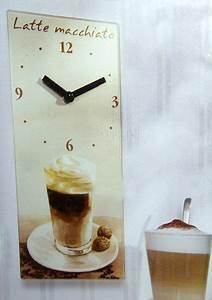 Wanduhr Für Küche : wanduhr latte macchiato cafe kaffee uhr k chenuhr k che ~ A.2002-acura-tl-radio.info Haus und Dekorationen