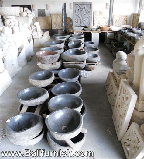 stone marble wash sinks  bali indonesia kitchen