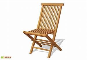 Chaise Teck Jardin : chaise de jardin teck pliante lot de 2 mon jardin ~ Teatrodelosmanantiales.com Idées de Décoration