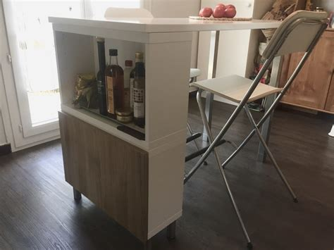 table de cuisine ikea table haute ilot de cuisine de delphine l120 x l60 x