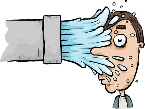 Splash Face Stock Illustration. Illustration Of Shock