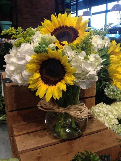 Sunflower Arrangements Sunflower And Hydrangea Flower