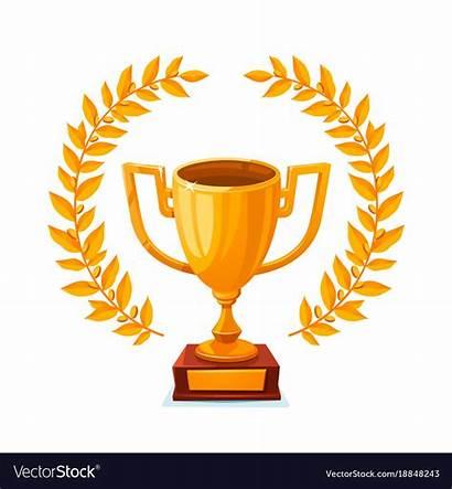 Trophy Place Winner Vector Cup Clipart Golden