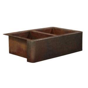 home depot copper sink sinkology bernini farmhouse apron front handmade pure