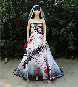 roadkill blackened burned and bloody zombie bride costume With bloody wedding dress