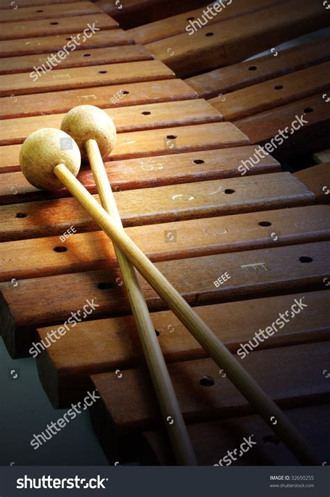 musical instrument wooden xylophone stock photo