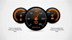 Dark Speedometer Template For Powerpoint