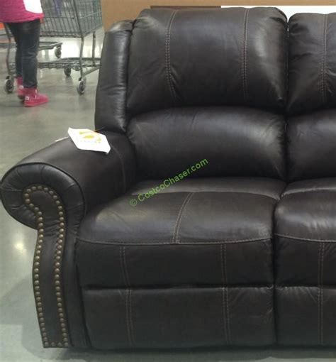 costco leather reclining sofa costco 905597 berkline reclining leather sofa 2 costcochaser