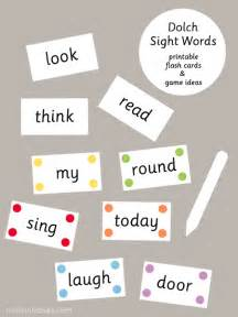 dolch sight words flash cards mr printables