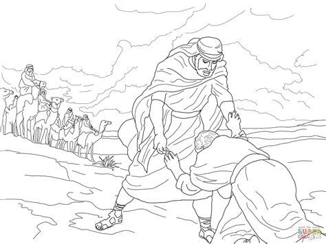 Jacob En Ezau Kleurplaat by Jacob Meets Esau Coloring Page Coloring Home
