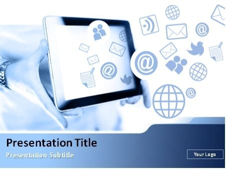 Presenter Media Powerpoint Templates Free by Mobile Social Media Powerpoint Template